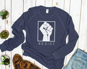 """Feminist Sweatshirt: """"Resist!"""" Unisex feminist sweater 