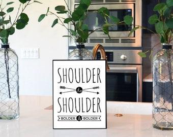 Shoulder to Shoulder Physical Wall Print