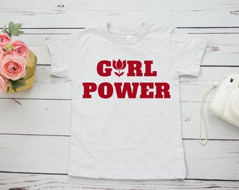 Girl Power shirt, kids/toddlers/youth, girl power, girl power tshirt, feminist shirt, GRL PWR shirt, graphic tee, eco friendly, toddler gift