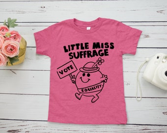 Little Miss Suffrage Feminist Kids' Shirt