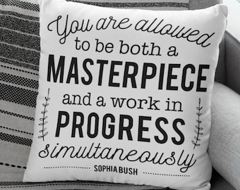"Therapy Office Decor: ""You are allowed to be both a MASTERPIECE and a work in PROGRESS simultaneously"""