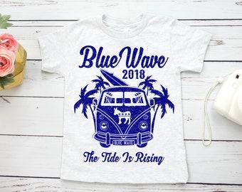 Blue Wave kids shirt, unisex, the tide is rising | 2018 midterm elections | vote blue, vote democrat, vote them out | trendy toddler t-shirt