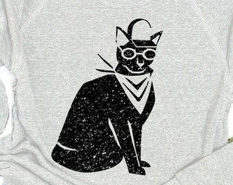"""Black Cat Sweater: """"Cool Cat"""" Sweater"""