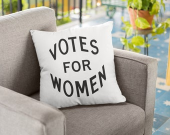 "Feminist Throw Pillow: ""Votes for Women"""
