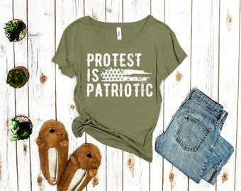 Protest is Patriotic Political T-Shirt