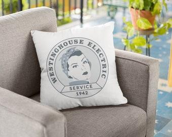 Feminist Pillow: Rosie the Riveter, feminist throw pillow, Westinghouse poster, feminism, feminist gift, feminist art, original, vintage