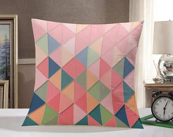 Geometric Throw Pillow Case