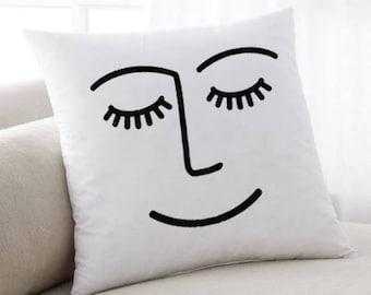Winky Face Pillow