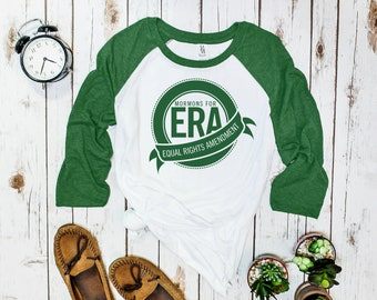 Mormons for the ERA Baseball Tee (3/4 sleeve, raglan)