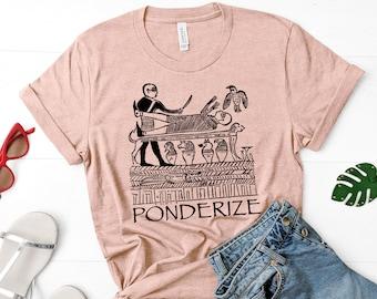 "Exmormon Shirt: ""Ponderize"" Egyptian heiroglyphs, Book of Abraham"