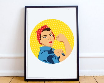 "Instant Download ""Rosie the Riveter"" Digital Wall Print"