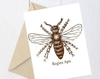 "Feminist Greeting Card: ""Queen Bee"""