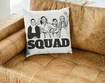 "Feminist Throw Pillow: ""Girl Squad"""