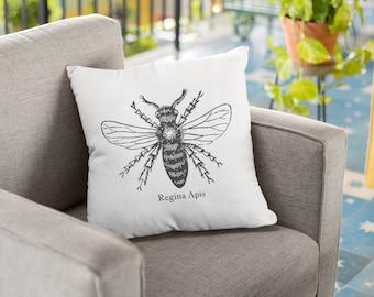 "Feminist Throw Pillow: ""Queen Bee"""