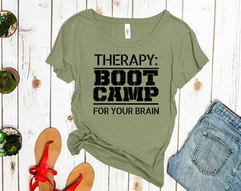 Therapy: Boot Camp for your Brain Women's Shirt