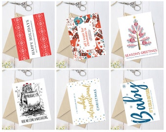 Christmas card pack, holiday cards assortment, feminist Christmas, funny Christmas card, feminist gift, Christmas gift, popular right now