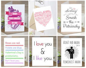 Valentines Day Cards: 6-card variety pack