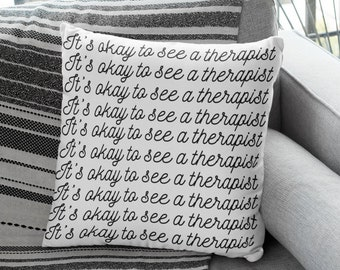 "Therapy Office Decor: ""It's okay to see a therapist"""