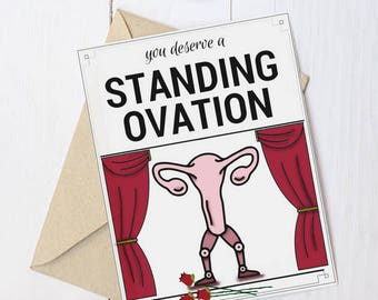 "Feminist Greeting Card: ""Standing Ovation!"""
