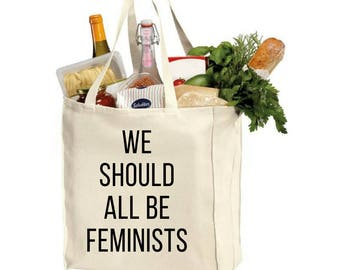 We Should All Be Feminists Large Grocery Tote