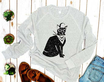 "Black Cat Sweater: ""Cool Cat"" Sweater"