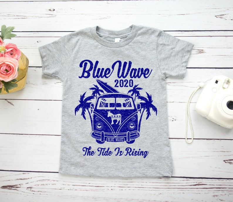 322dfdbb8 Blue Wave 2020 kids shirt unisex the tide is rising | Etsy