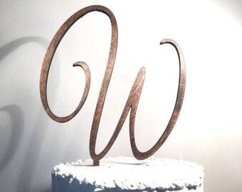 personalized cake topper wooden cake topper script letter cake topper wedding cake topper cake topper rustic cake topper custom