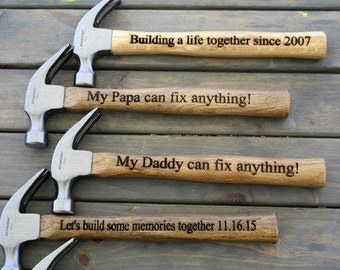 Personalized Hammer, Father's Day Gift, Gift For Him, Dad, Engraved Hammer, Groomsman Hammer, Custom Hammer, Gift, Father, Hammer, Wedding