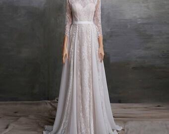 Gypsy Long Sleeve Wedding Dresses
