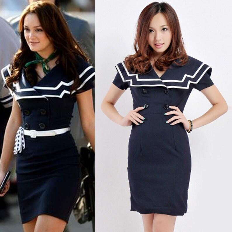 dcff5aa3c8f 1950er Jahre   50er Jahre Kleid   Sailor Kleid   nautische