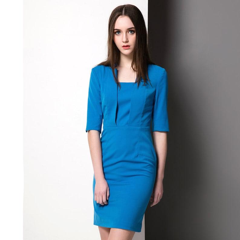 86f7990e4ecf7d Cornflower blue dress  Kate Middleton dress  LK Bennett