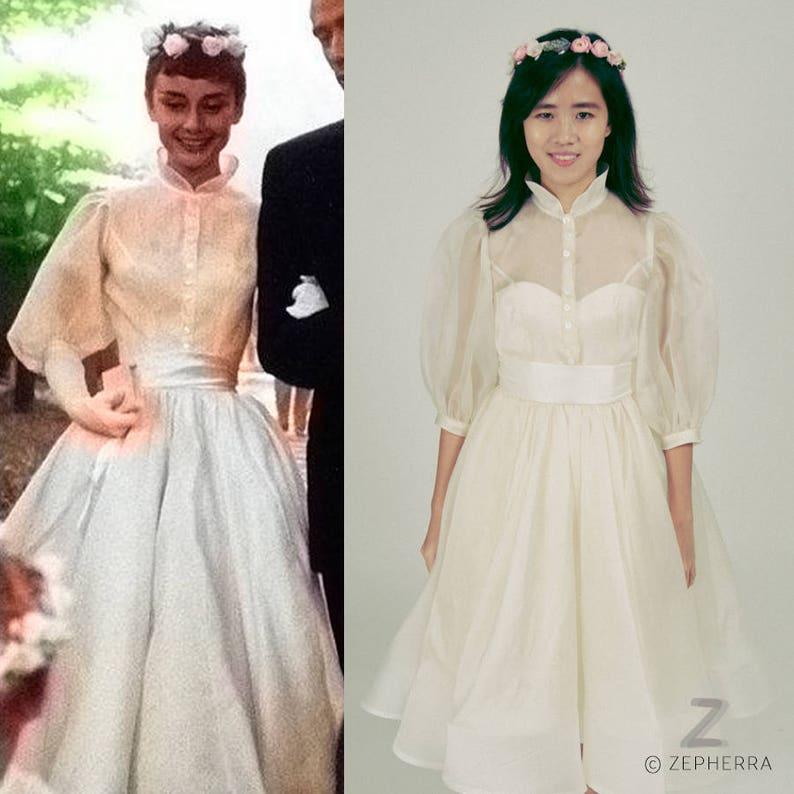 6aa93475 Audrey Hepburn/ Wedding Dress/ 1950s Wedding Dress/ Vintage/ | Etsy