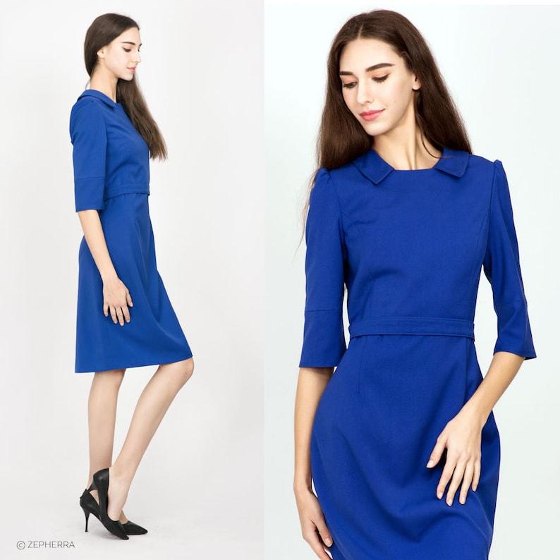 8ecbd14f72 Kate Middleton Blue Pencil Dress  Royal Canada tour  tailored