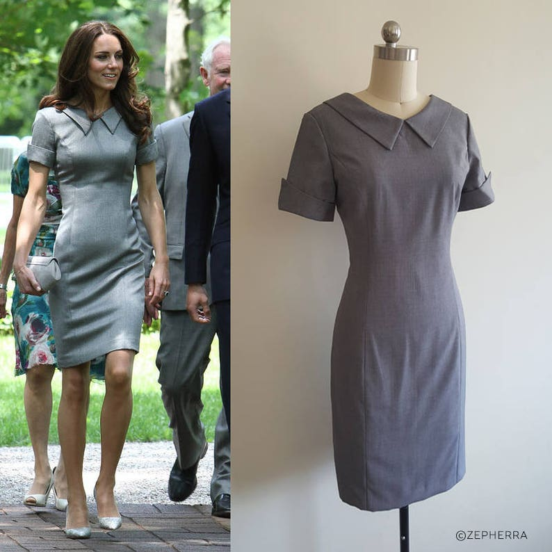 Grey Kate dress middleton