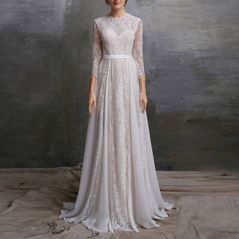 Vintage Wedding Lace Dress