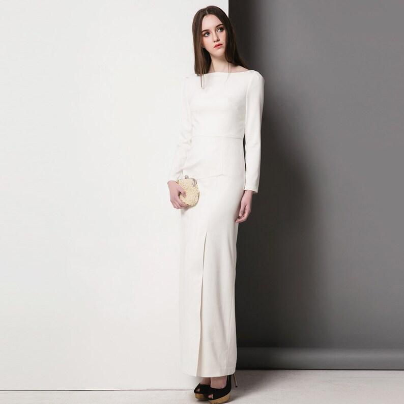 e33fb60d18c Off White Evening Dress  Kate Middleton Ella Dress  evening