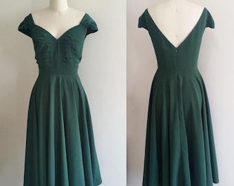 Emma Stone inspired green dress/ Movie dress/ Mia Green dress/ Retro dress/ 60s dress/ Swing dress/ vintage 60s dress/ custom made dress