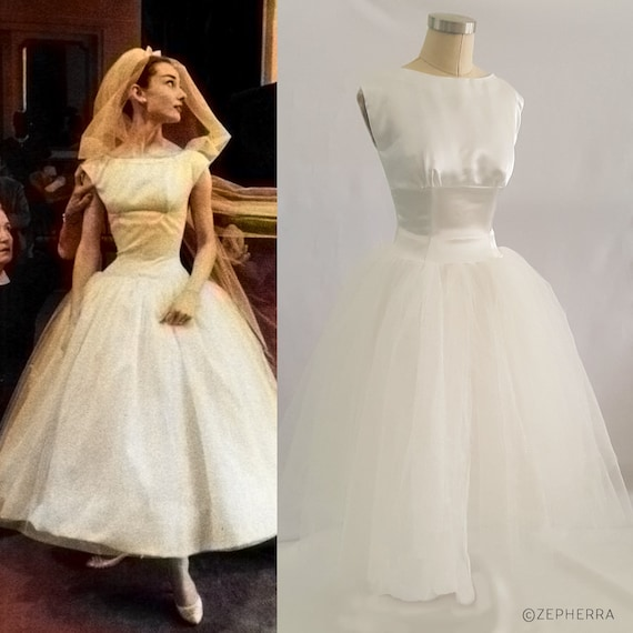 Funny Face Wedding Dress/ Audrey Hepburn Wedding Dress/ 1950s | Etsy