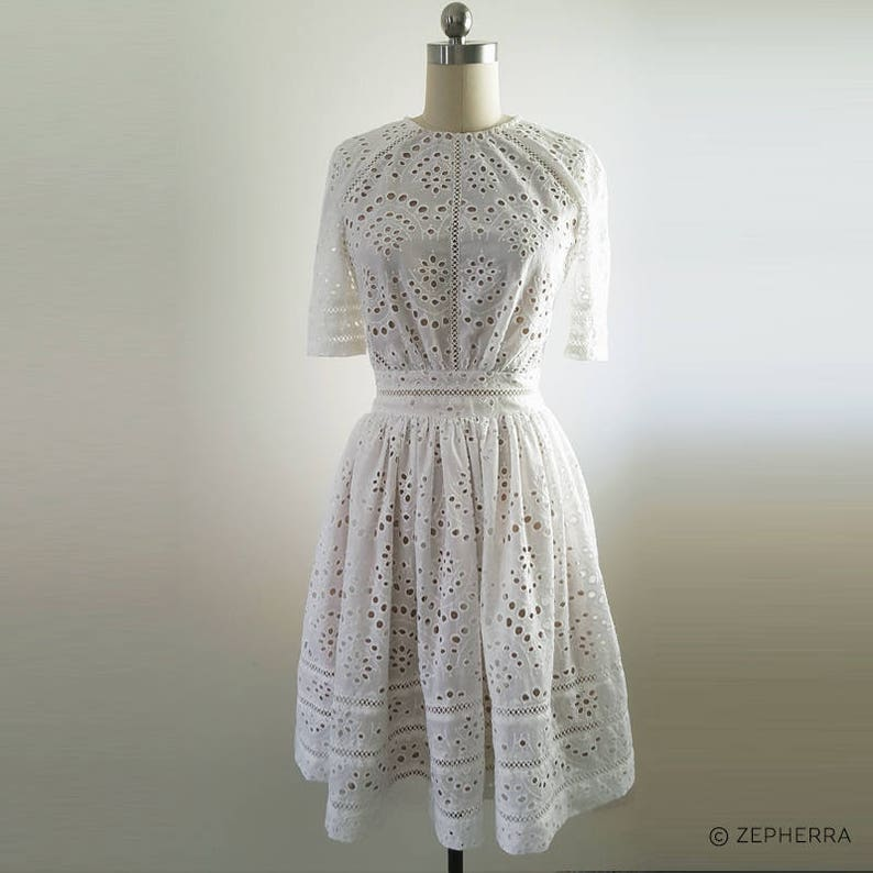 5979a23584 Kate Middleton  White Broderie Anglaise dress  Zimmerman