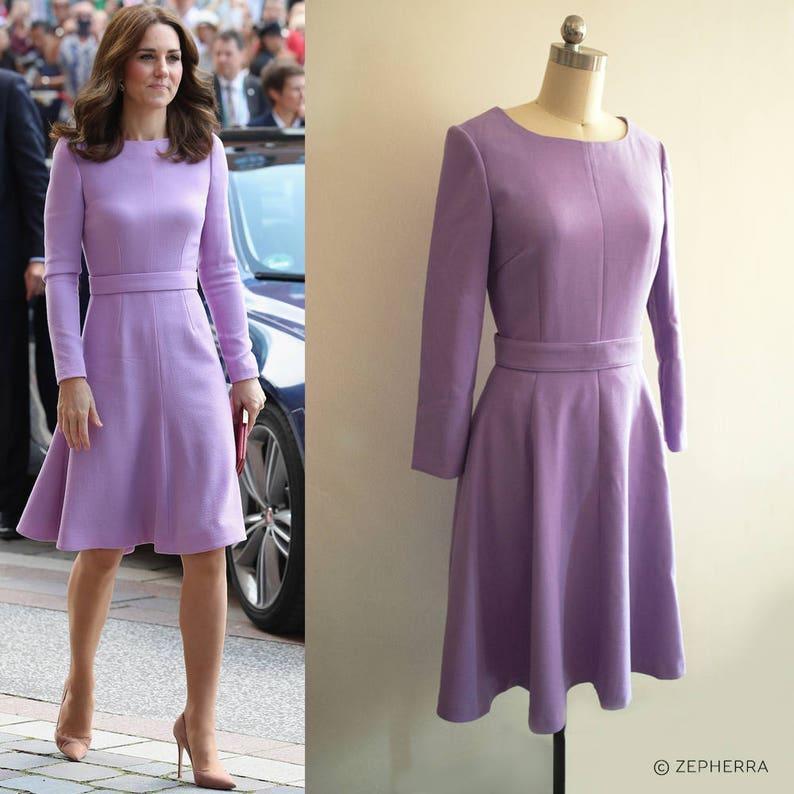 3428e8a403a9 Kate Middleton Lavender dress  Duchess Cambridge dress  purple