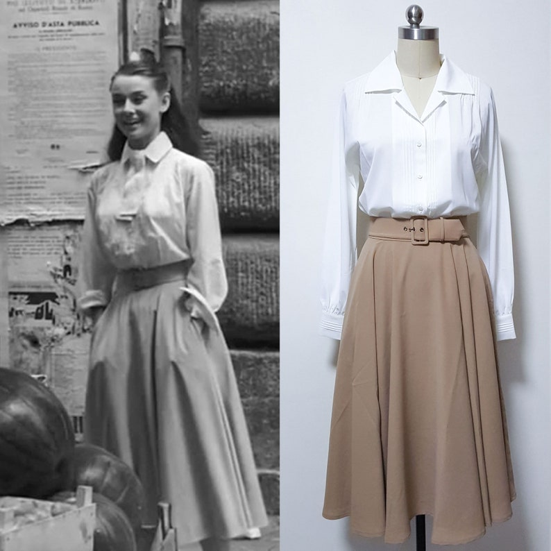 Audrey Hepburn skirt/ Roman Holiday Circular Skirt/ Vintage image 1