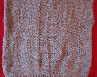 Ladies Hand Knit Vest, Woman's Large, Very Plain & Simple Pattern, light weight acrylic