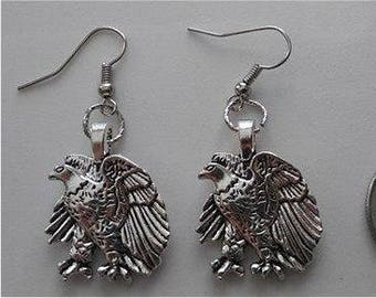 Alloy Eagle Earrings or Necklace