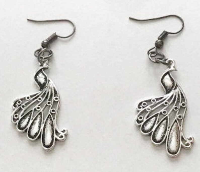 Peacock Filigree Earrings image 0