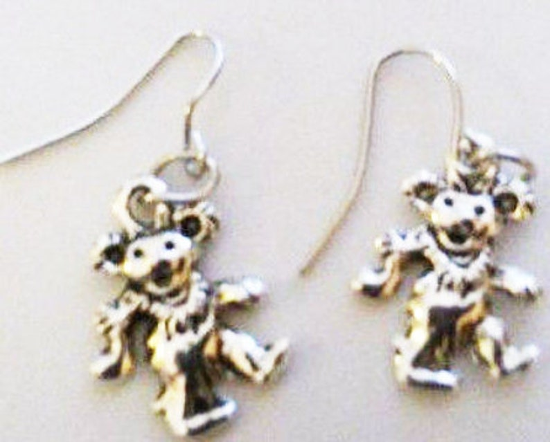Dancing Bear Earrings or Corded Necklace image 0
