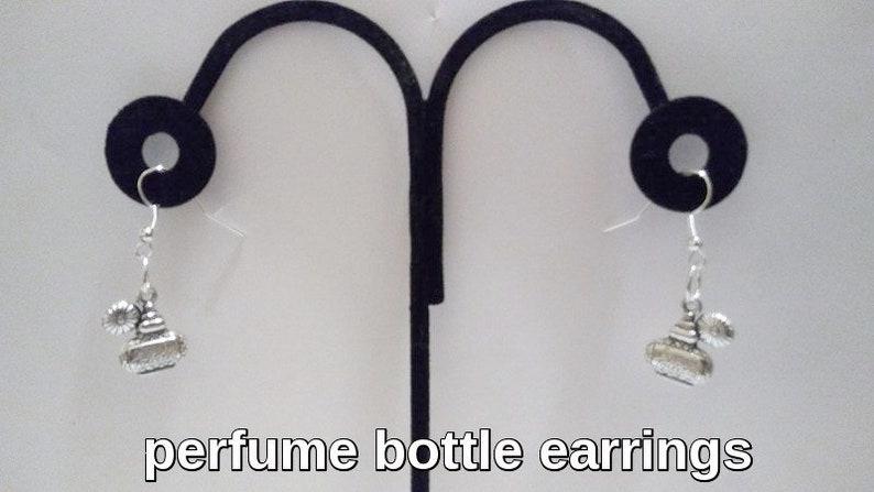Perfume Bottle Earrings or Necklace Eau de Toilette image 0