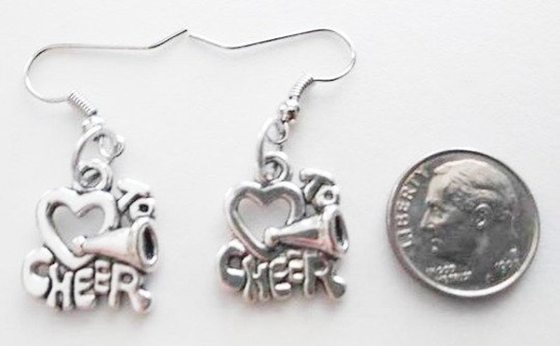 Cheerleader Earrings or Corded Necklace image 0