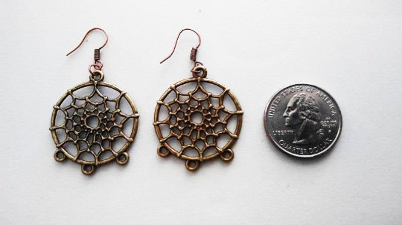 Dreamcatcher Earrings  or Corded Necklace image 0