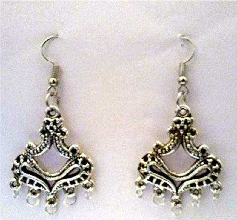 Chandelier Earrings or Corded Necklace image 0