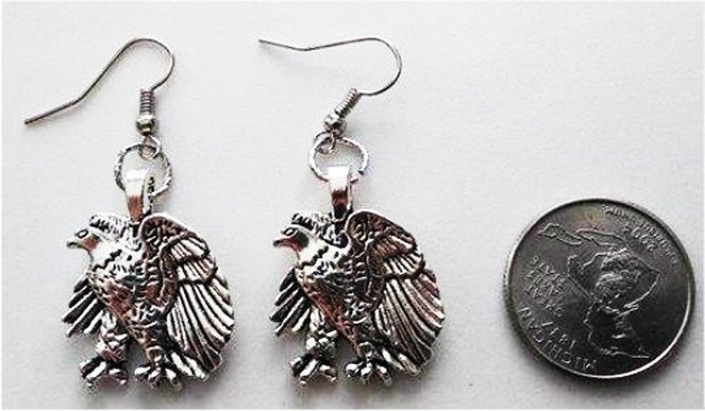 Eagle Earrings Retro Eagle Earrings Retro Eagle Necklace image 0